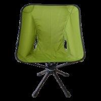 360 Grad-Schwenker-Aluminiumlegierung beweglicher zusammenklappbarer Moon Chair Angeln Camping Grill Hocker Folding Erweiterte Wandern Sitz