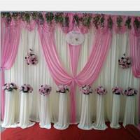 6m / 20ft (w) x 3m / 10ft (h) fond de mariage décors rideau de mariage accessoires de mariage fond d'étape voile personnalisation professionnelle