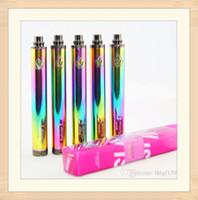 100% Qualidade Rainbow Vision Spinner 2 Baterias Evod Twist 3.7V - Voltagem Variável da Bateria 4.8V para 510 Atomizador de Tópicos