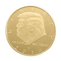 Памятная монета президента Америки Дональда Трампа Сувенирные монеты EDC Craft 4CM Национальный флаг США Сплав Золото в иностранной валюте