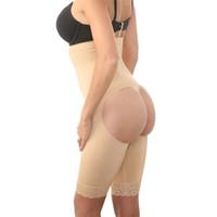 여성 원활한 셰이퍼 바디 레이스 가장자리 높은 허리 속옷 샴 순수한 색상 쉐이핑 원피스 슬림 맞는 스타일링 엉덩이 속옷
