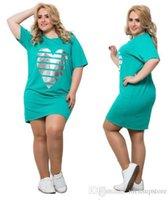 5XL 6xL платье женская одежда повседневная свободная летняя любовь футболка платья с короткими рукавами плюс размер платья