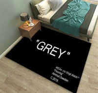 Letter Design Carpet Fashion Grey Black Red Print Rug New Sk...