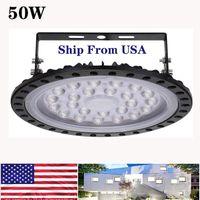 Viu UFO LED haute baie 50W (200W HID / HPS équivalent) 5000LM 6000K-6500K Lumière du jour Blanc Ultra Thin Entrepôt Bay Lighting Commercial