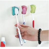 3шт держатель зубной щетки пылезащитный настенное крепление на присоске крышка зубной щетки стойки крышка для ванной комнаты путешествия домой отель для wh010
