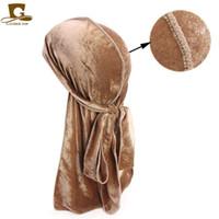 Мужчины Женщины дышащий Бандана Hat бархат Durag сделать ду-дю-тряпку длинный хвост Headwrap химио колпачок