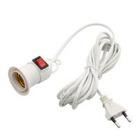 Bases E27 lâmpada com Cord 4M 8M Independente de Energia Chave Push Button Titular EU Plug E27 Screw interface Lamp