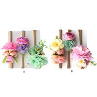 3pcs lot Floral Nylon Elastic Headband Children Fashion Headwear Baby Girls Cute Hair Accessories Set Birthday Gift