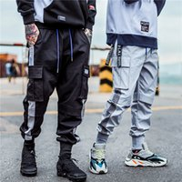 Cargo Pocket Track Pants Moda 2019 Harem Joggers Uomo High Fashion Urban Streetwear Pantaloni Hip Hop Slim Fit