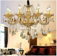Free Shipping Modern European Candle Crystal Chandeliers Bed...