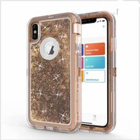 3 In 1 Glitter Liquid Quicksand Case For iPhone 11 Pro X XR ...