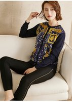 PIXY Gold Print Silk Knit Sweater Women Italy Sweaters Desig...