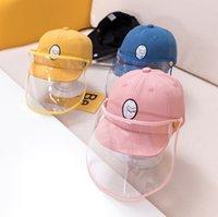 보호 모자 아기 어린이 야구 모자 이동식 안티 플라잉 침 방진 태양 모자 커버 정점 어린이 모자 A2848 마스크