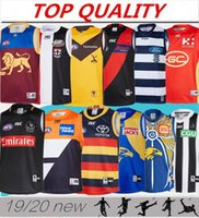 2019 West Coast Eagles Guernsey Adelaide Crows Collingwood Magpies casa Eddie Betts 300 ° maglia senza maniche migliore qualità AFL
