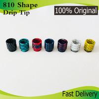 Pele de serpente Forma Resina Epóxi V8 Drip Tip 810 Drip Tips com Box Package caber V8 Big Baby V12 Atomizador Vape ecigs DHL