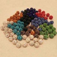 Designer en vrac Perles de Cristal 8 mm 10 mm 12 mm perles en vrac à billes main Perles pleine Drill argile molle poterie + strass gros