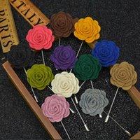 100 pcs Hommes Femmes 3D Rose Fleur Broche pour Costumes D'hiver Manteau Col Pour La Fête De Mariage Faovr Cadeau Bijoux Décoration