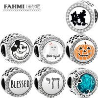 FAHMI 100% 925 Sterling Silber Charming Haunted House Kürbis DIY Charme Frauen Armband Trend Perlen Kostenloser Versand Großhandel