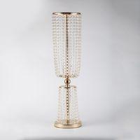 Vasos de cristal de cristal acrílico vasos de casamento chumbo decoração de casamento decoração de casamento decoração de casamento para a mesa 80cm de altura