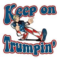 دونالد ترامب 2020 ملصقات السيارات 6.27 * 6.09cm الوفير ملصق الاحتفاظ على Trumpin السيارات التصميم سيارة المقرب ZZA1889