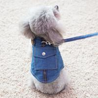 Weste-Stil Cowboy Hundeleinen Imitation Kleidung Design Teddy VIP Haustier Brust zurück kleiner Hund Seil liefert
