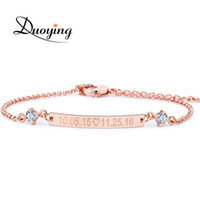 DUOYING Crystal 30*4 mm Bar Bracelet Custom Engraved Name Personalized Initial Bracelet With Zirconia For Women Etsy