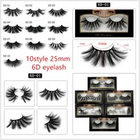new hot selling 25 mm false eyelash 5d mink hair 6d three- di...