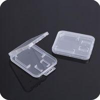 صغير شفاف بلاستيكي حماية صندوق تخزين حامل بطاقة الذاكرة القياسية لبطاقة الذاكرة SD TF MMC SIM SN1930