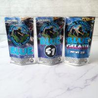 Новый король Cookis California 3.5G Mylar Bags Bags Kingcoki Blue 41 Cookieblue Gelatti STIPPER Bag для сухого травы цветок упаковочный пакет
