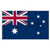 3X5 أستراليا العلم، مخصص الوطنية المعلقة في الهواء الطلق شاشة داخلي الطباعة 68D شاشة الطباعة، دعم انخفاض الشحن