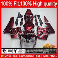 Inyección OEM para HONDA CBR 600RR 600F5 CBR600F5 CBR600 RR 03 81HC.9 Rojo oscuro Nuevo CBR600RR CBR 600 RR F5 03 04 2003 2004 100% FIT JAILE