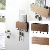 New-Wand Typ Holz Dekorative Wandregal Sundries Aufbewahrungsbehälter prateleira Aufhänger Organizer Schlüsselbrett Holz Wandregal