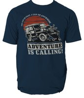 ADVENTURE IS CALLING T shirt 4X4 OFF ROAD mens t- shirt tee S...
