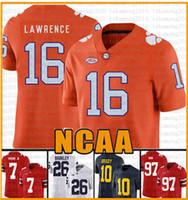NCAA Clemson Tigers 16 Trevor Lawrence 9 Travis Etienne Jr. Tom Brady Jersey 97 Nick Bosa 7 Dwayne Haskins Jr Jerseys 201-2020 Novos RCRTGs