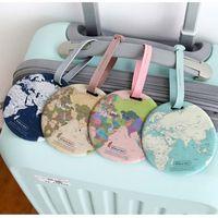 50pcs Reisezubehör Gepäck Tag kreative Casual Karte Silica Gel Koffer Id Adresse Gepäck Brett Tag Tragbare Etiketten