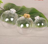 Parti Dekorasyon 100 adet DIY Boyanabilir / Parçasız Temizle Noel Topu, Altın Kap Plastik Disk Süs SN2076