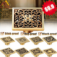 Wholesale And Retail Euro Floor Drains Antique Brass Shower ...