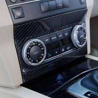 Centre auto contrôle Bouton climatisation Cadre décoration autocollant pour Mercedes Benz Version GLK X204 2008-12 Carbon Fiber Couleur
