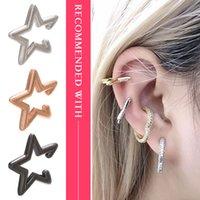 Tornillo clip-on Volver 1pc Five Star Ear CILP Pendientes de cobre liso al por mayor Huesos al por mayor para mujeres Accesorios de regalo Joyería Clip Clip