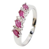 Hotsale silver ruby engagement ring for woman 100% 2 mm * 4 ...