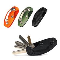 EDC 기어 키 키 체인 홀더 폴더 클램프 포켓 멀티 도구 주최자 수집기 스마트 클립 키트 바 가제트 야외 캠핑