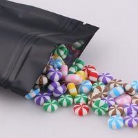 12x18cm (4.7x7inch) lámina de sellado térmico 100pcs barrera paquete al por menor bolsa de aluminio negro ziplock bolsas de pie