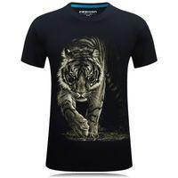 2019 New Tiger T-shirt Hombres / Mujeres Impresión 3D Tiger Hip Hop Cartoon T-shirt Summer Jacket T-shirt Fashion 3D Shirt