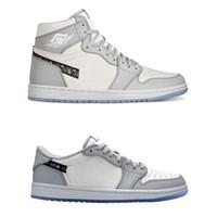 Oficialmente reveló 35 aniversario D x 1 I colaboración Alto Bajo OG marca de moda francesa del blanco gris Kim Jones zapatilla de deporte