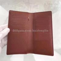 Бумажник Мужчины Мужчина Мужчина оригинальной коробки карта держатель кошелек способ высокого качества