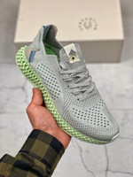 Futurecraft 4D Print Run Shoes Invincible x Consortium Runner 4D SNS Runner 4D Grey Aero Green para hombre Diseñador de deportes Daniel Arsham Sneakers