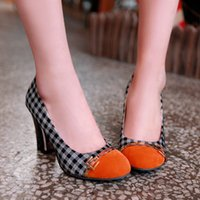 classic female high heels shoes for women platforms flock th...