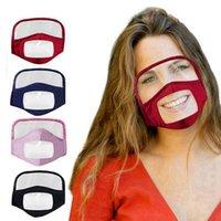 2 En 1 Mascarilla con el blindaje de los ojos a prueba de polvo lavable de algodón Máscara Ciclismo reutilizable transparente protectora de la cara Cara Escudo RRA3275
