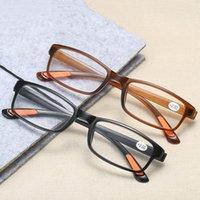 De haute qualité Lunettes de lecture Lunettes presbytes à verres transparents unisexe lunettes sans monture Cadre Strenth +1,0 +4,0
