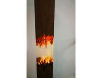 vendita per anno lampada di tabella fine realizzato in legno e mobili in resina epossidica noce sede naturale illuminazione principale sinobrilla chiaro e caldo